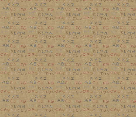 ABC ©LLausen fabric by woolyredrug on Spoonflower - custom fabric