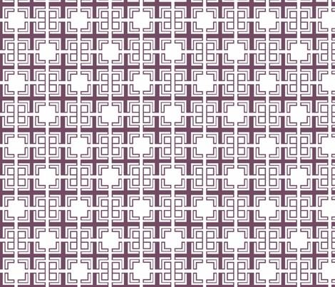 Aubergine Weave ii fabric by designedtoat on Spoonflower - custom fabric