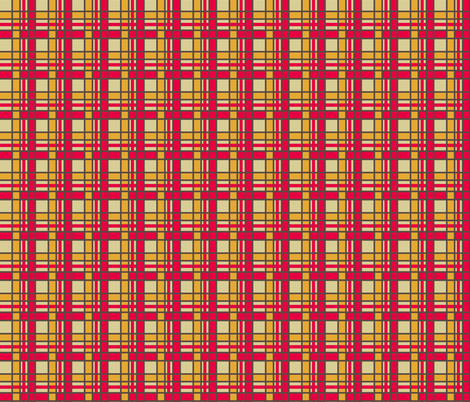 Peppermint Christmas Gold Plaid fabric by thats_artrageous on Spoonflower - custom fabric