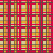 Peppermint Christmas Gold Plaid