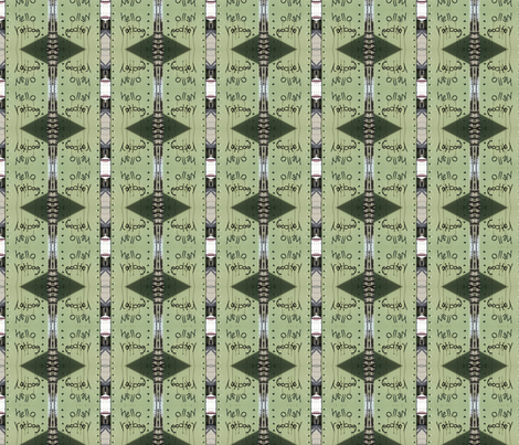 Hello, Ratbag fabric by mbsmith on Spoonflower - custom fabric