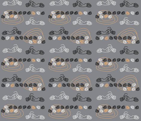 GREY CYCLES fabric by natalie_yates_designs on Spoonflower - custom fabric