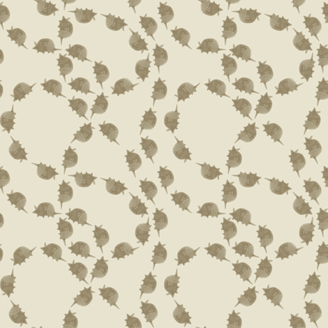 Armadillo Follow-The-Leader - Ivory fabric by maplewooddesignstudio on Spoonflower - custom fabric