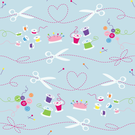 Sew Cute fabric by gobennygo on Spoonflower - custom fabric
