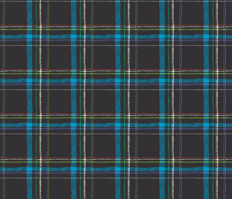 Paleo Plaid (gray) fabric by leanne on Spoonflower - custom fabric