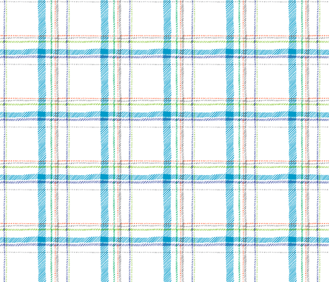 Paleo Plaid (white) fabric by leanne on Spoonflower - custom fabric