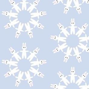 bunny circles pastel blue