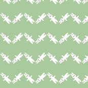bunny chevron pastel green
