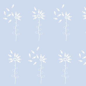 bunny dandelion pastel blue