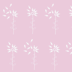bunny dandelion pink