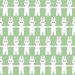 bunny pastel green