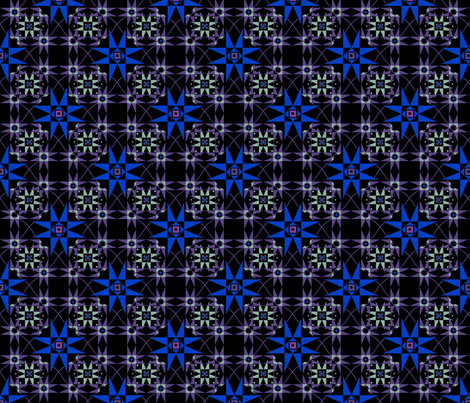 Starring bleu fabric by alfabesi on Spoonflower - custom fabric