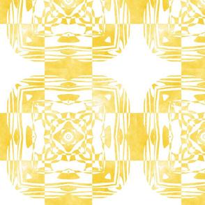 Geo Floral Golden Design, M