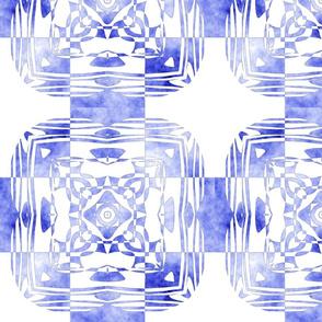 Geo Floral Blue Design, M