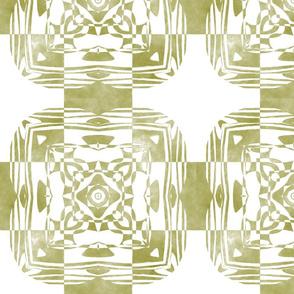 Geo Floral Moss Green Design, M