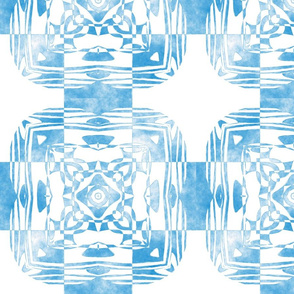 Geo Floral Sky Blue Design, M
