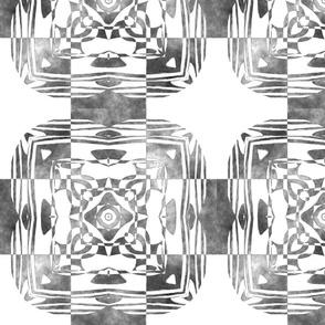 Geo Floral Black Design, M