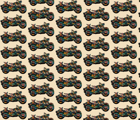 motorcycles repeat fabric by kociara on Spoonflower - custom fabric