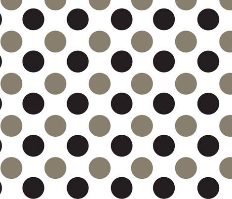 Polka_Dot_Black_and_Taupe fabric by designedtoat on Spoonflower - custom fabric
