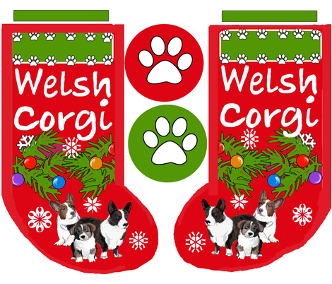 Cardigan Corgi Christmas Cut and Sew Stocking