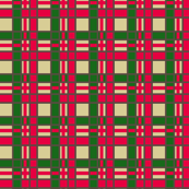Christmas Plaid in Green and Red