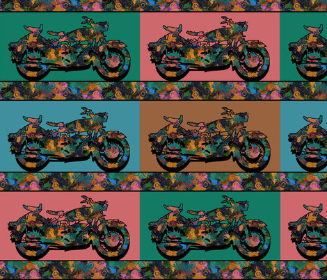 groovy motorbikes fabric by kociara on Spoonflower - custom fabric