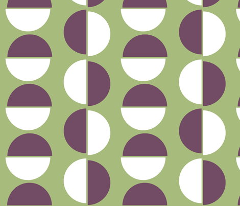 Large semi circles on green fabric by little_fish on Spoonflower - custom fabric