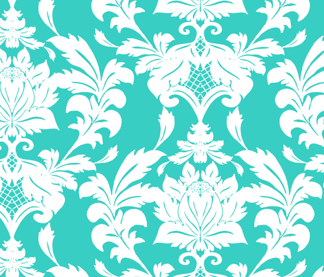 Damask fabric by aimeesthill on Spoonflower - custom fabric