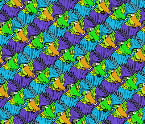 Parrots fabric by aimeesthill on Spoonflower - custom fabric