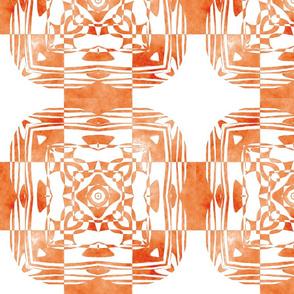 Geo Floral Orange Design, M