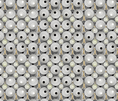 Discettes and Dots  fabric by joanmclemore on Spoonflower - custom fabric