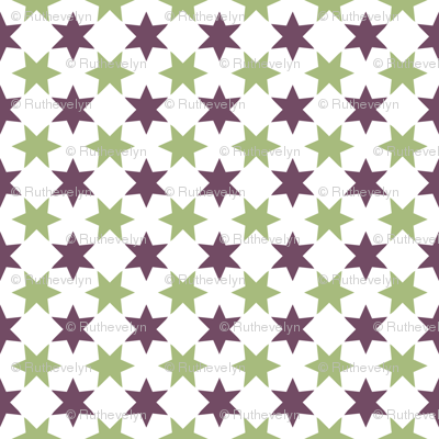 Green & Purple Stars