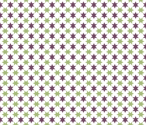 Green & Purple Stars fabric by ruthevelyn on Spoonflower - custom fabric