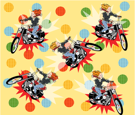 SCOOTER GIRL! fabric by deeniespoonflower on Spoonflower - custom fabric