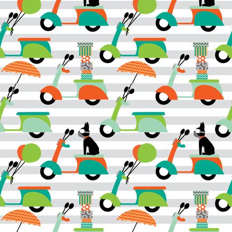 modvespas4 fabric by natitys on Spoonflower - custom fabric