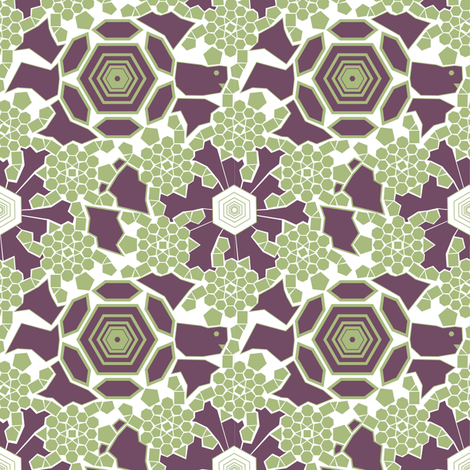 Purple Turtle fabric by mag-o on Spoonflower - custom fabric