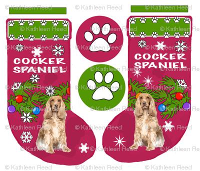 COCKER_SPANIEL_cut and sew Christmas Stocking