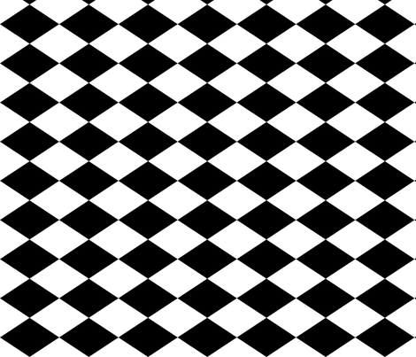 Large Harlequin Check in Black and White
