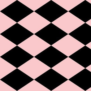 Large Harlequin Check in Pink
