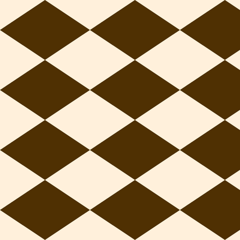 Large Harlequin Check in Brown and Cream fabric by charmcitycurios on Spoonflower - custom fabric