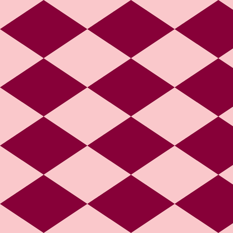 Large Harlequin Check in Raspberry fabric by charmcitycurios on Spoonflower - custom fabric