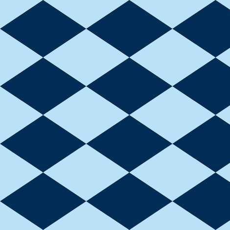 Large Harlequin Check in Blueberry fabric by charmcitycurios on Spoonflower - custom fabric