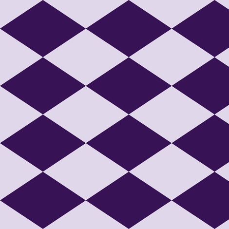 Large Harlequin Check in Grape fabric by charmcitycurios on Spoonflower - custom fabric