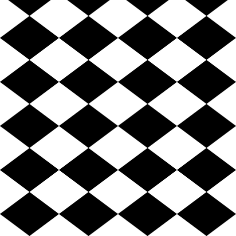 Small Harlequin Check in Black and White fabric by charmcitycurios on Spoonflower - custom fabric