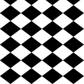 Small Harlequin Check in Black and White