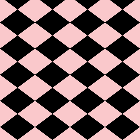 Small Harlequin Check in Pink fabric by charmcitycurios on Spoonflower - custom fabric