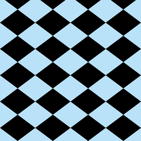 Small Harlequin Check in Light Blue fabric by charmcitycurios on Spoonflower - custom fabric