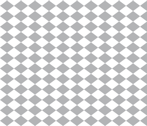 Small Harlequin Check in Light Gray fabric by charmcitycurios on Spoonflower - custom fabric