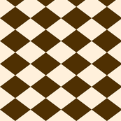 Small Harlequin Check in Brown and Cream