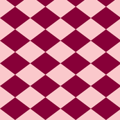 Small Harlequin Check in Raspberry